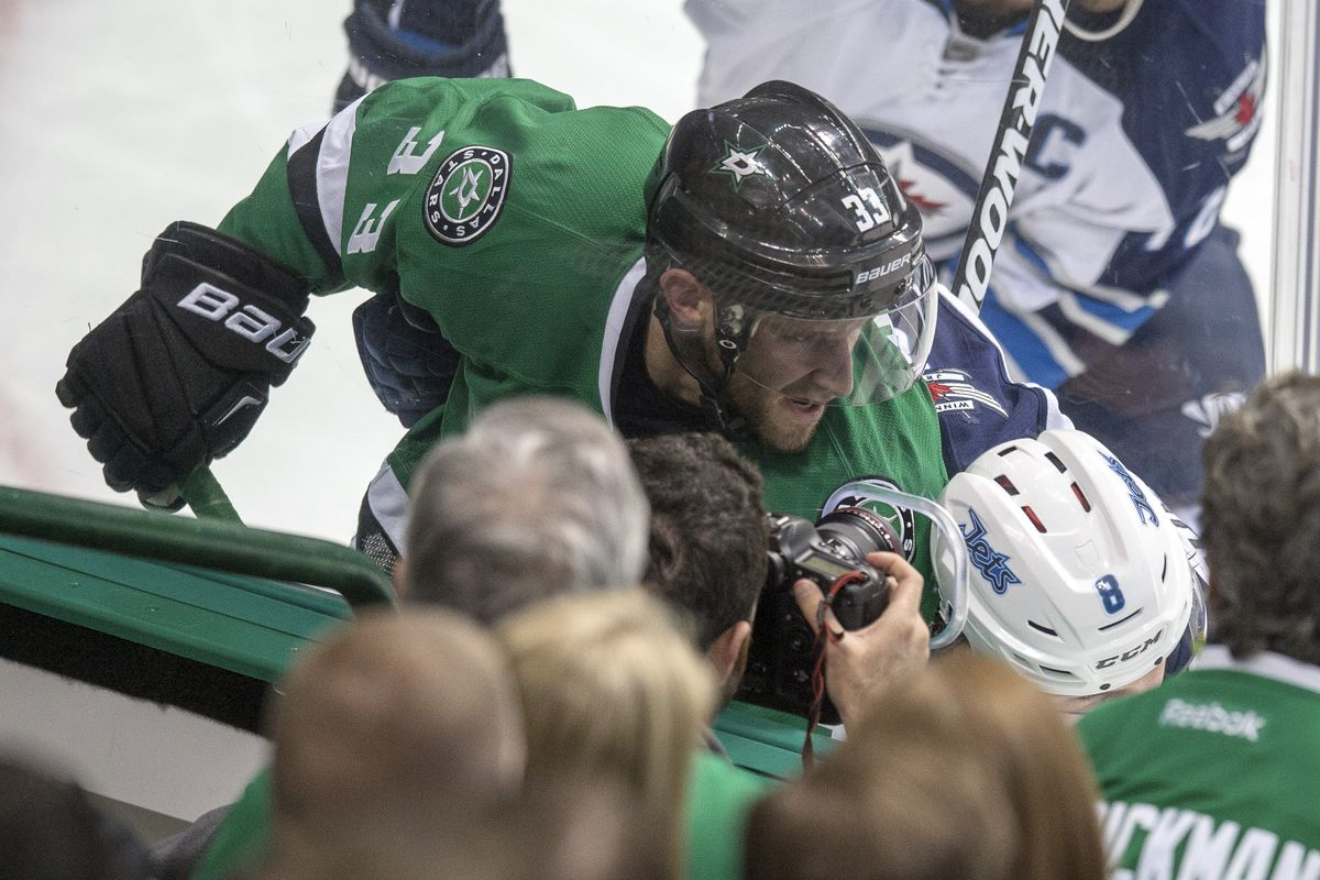 Alex Goligoski didn't score on the Jets, but Razor named him joint Man of the Match for his PK work.