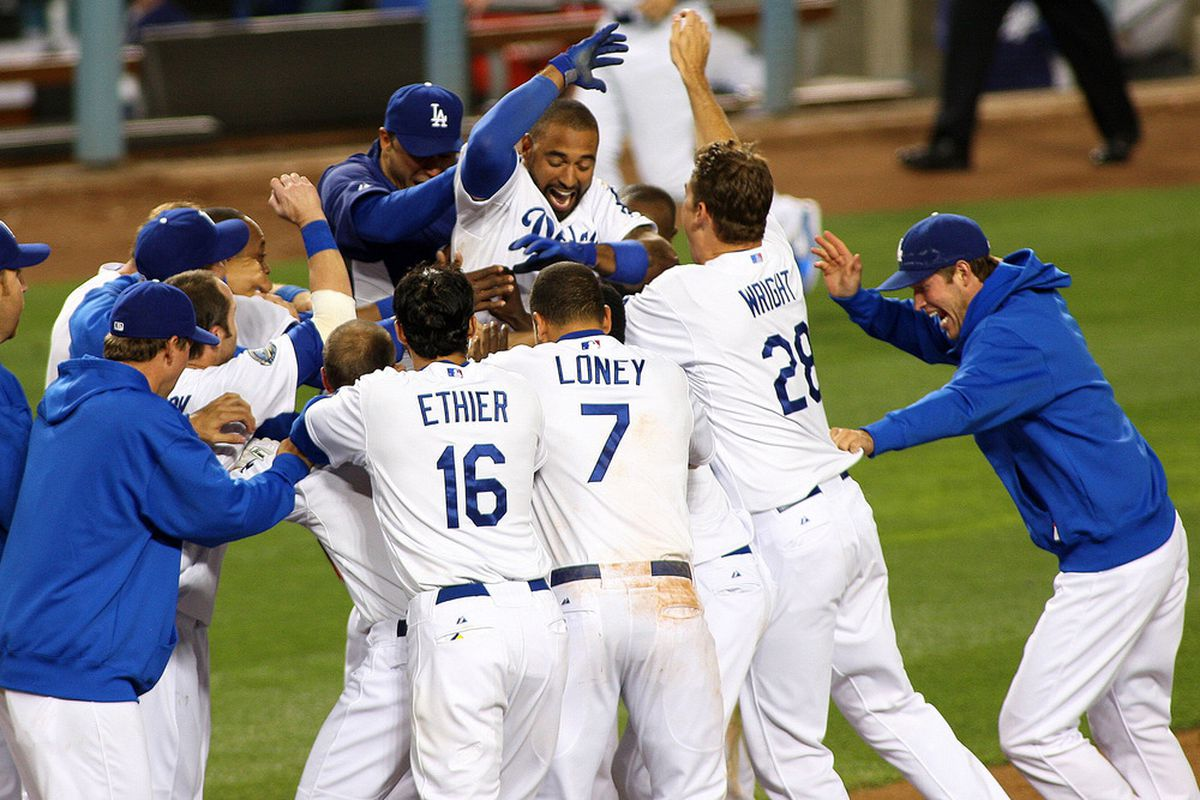 Saturday night was quite a party at Dodger Stadium.
