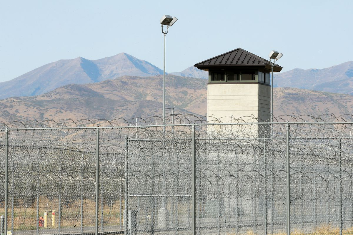 A guard tower at the Utah State Prison .