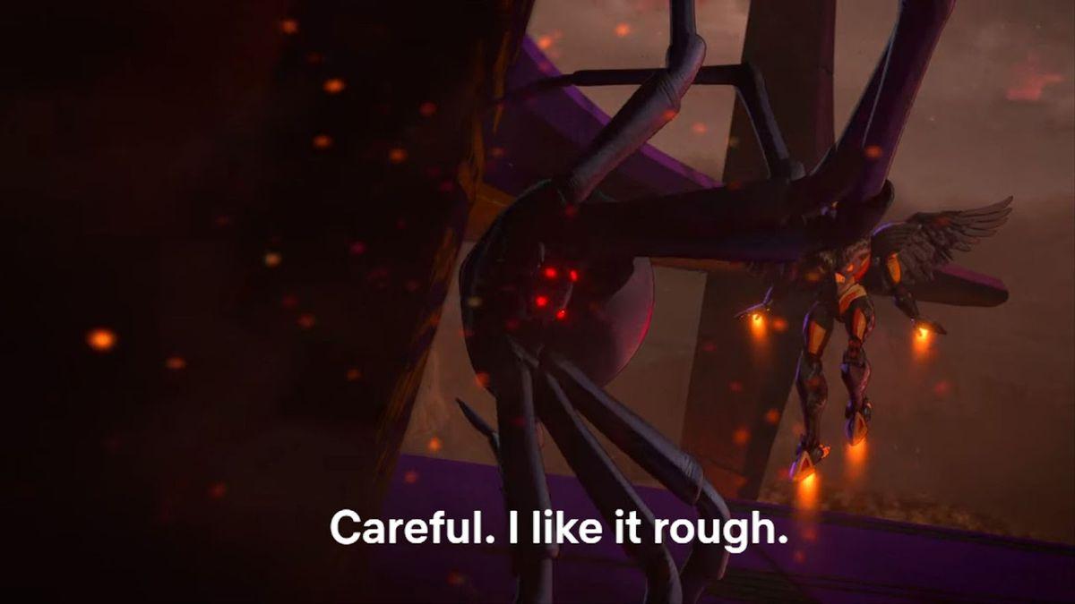 """Careful. I Like it rough."""