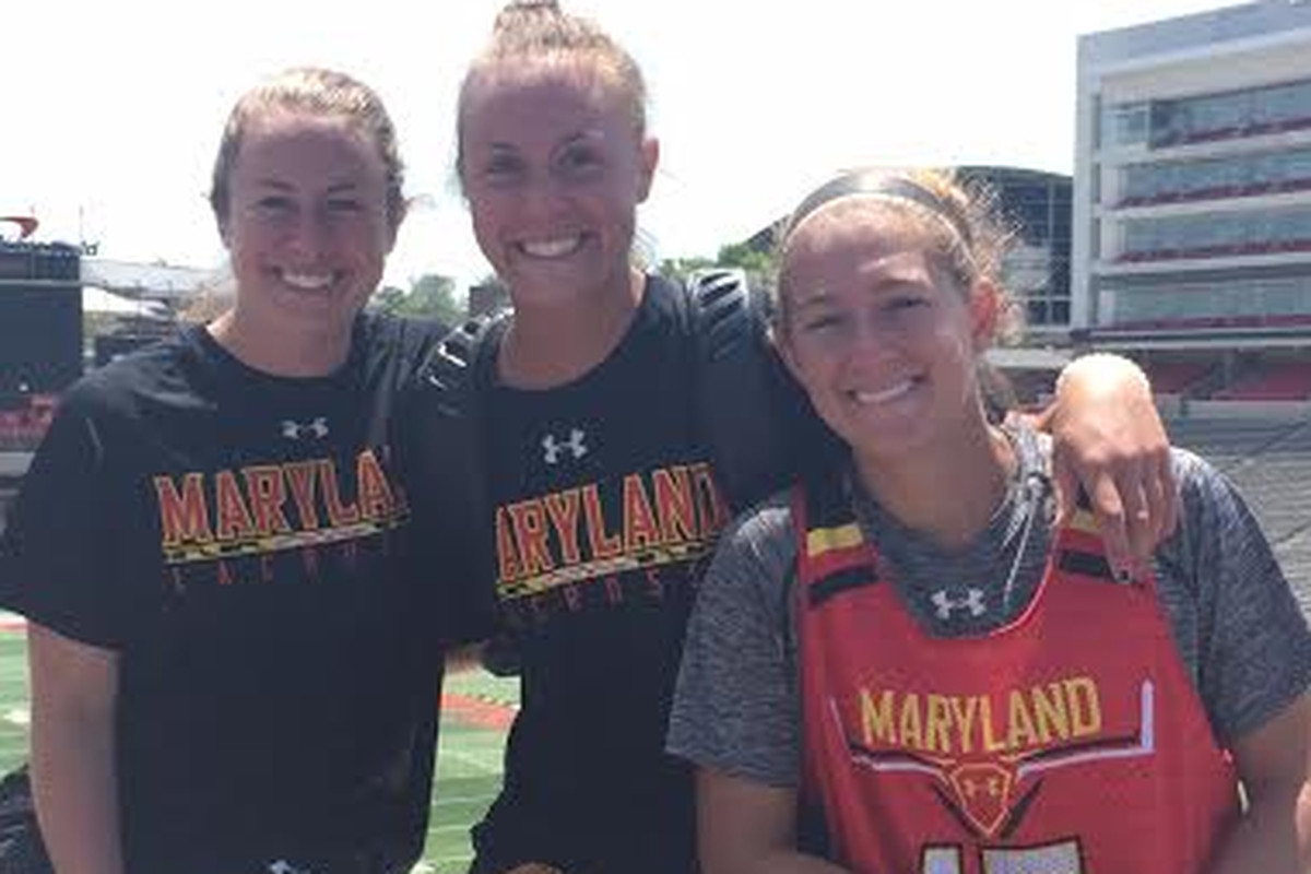 (From left to right) All-Americans Megan Whittle, Alice Mercer and Zoe Stukenberg look to lead Maryland women's lacrosse to its third straight national championship