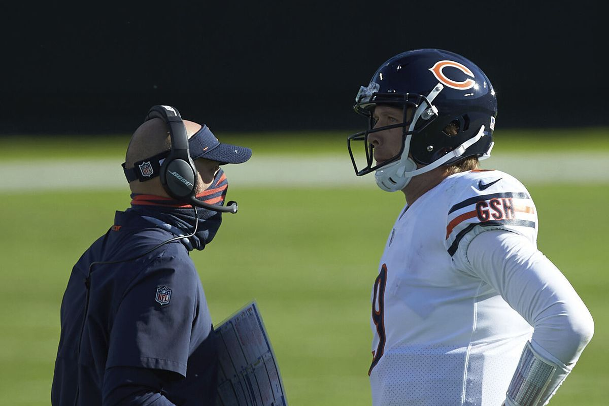 It's the second season together for Matt Nagy and NIck Foles, but they appear to be a ways away from being in sync.
