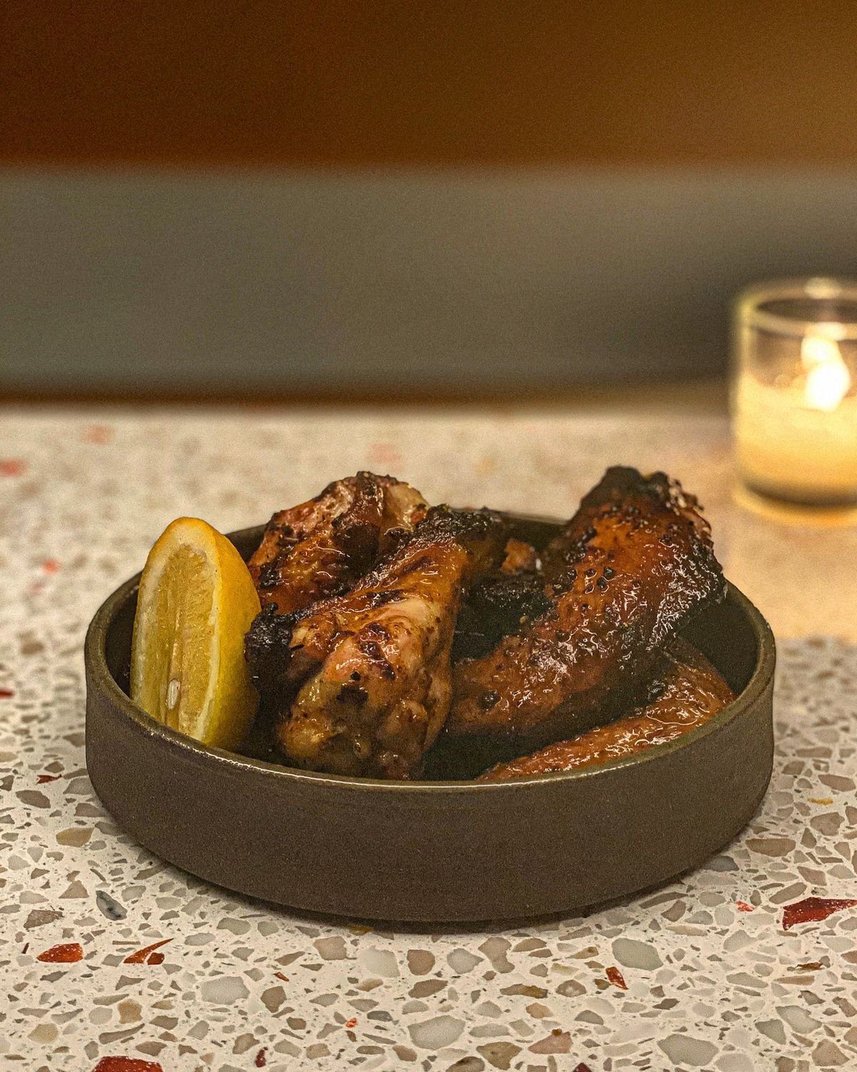 Grilled chicken wings at Eszett in Silver Lake.