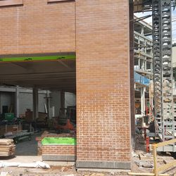 View into the ground floor of the plaza building -
