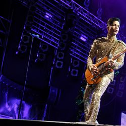 There were never enough sparkled turtlenecks. This is on his 2004 European tour in Poland.