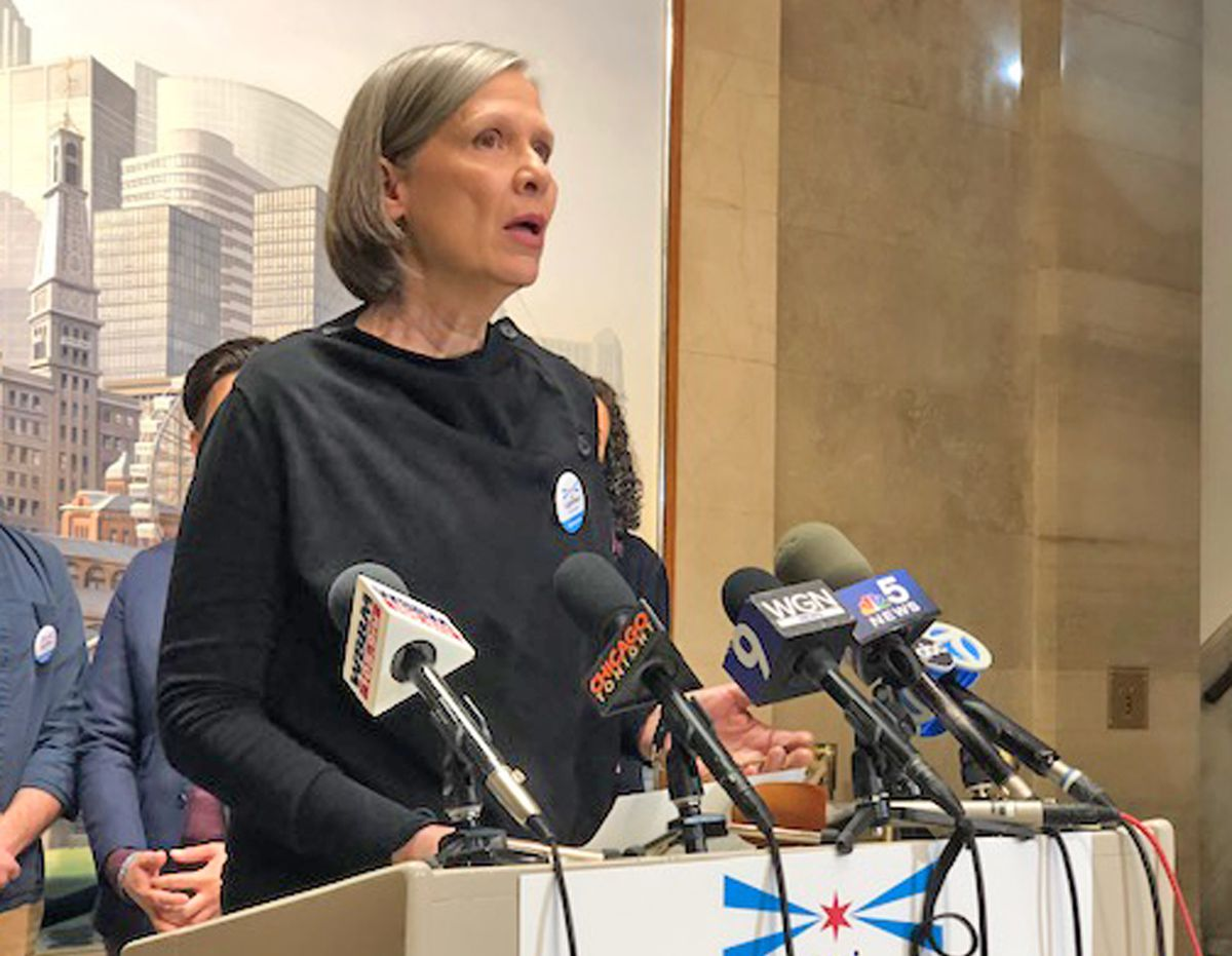 """Among the artists endorsing Lori Lightfoot's proposal to boost the arts was Amy Morton, a Steppenwolf Theatre ensemble member who also portrays Sgt. Trudy Platt on """"Chicago P.D."""" 
