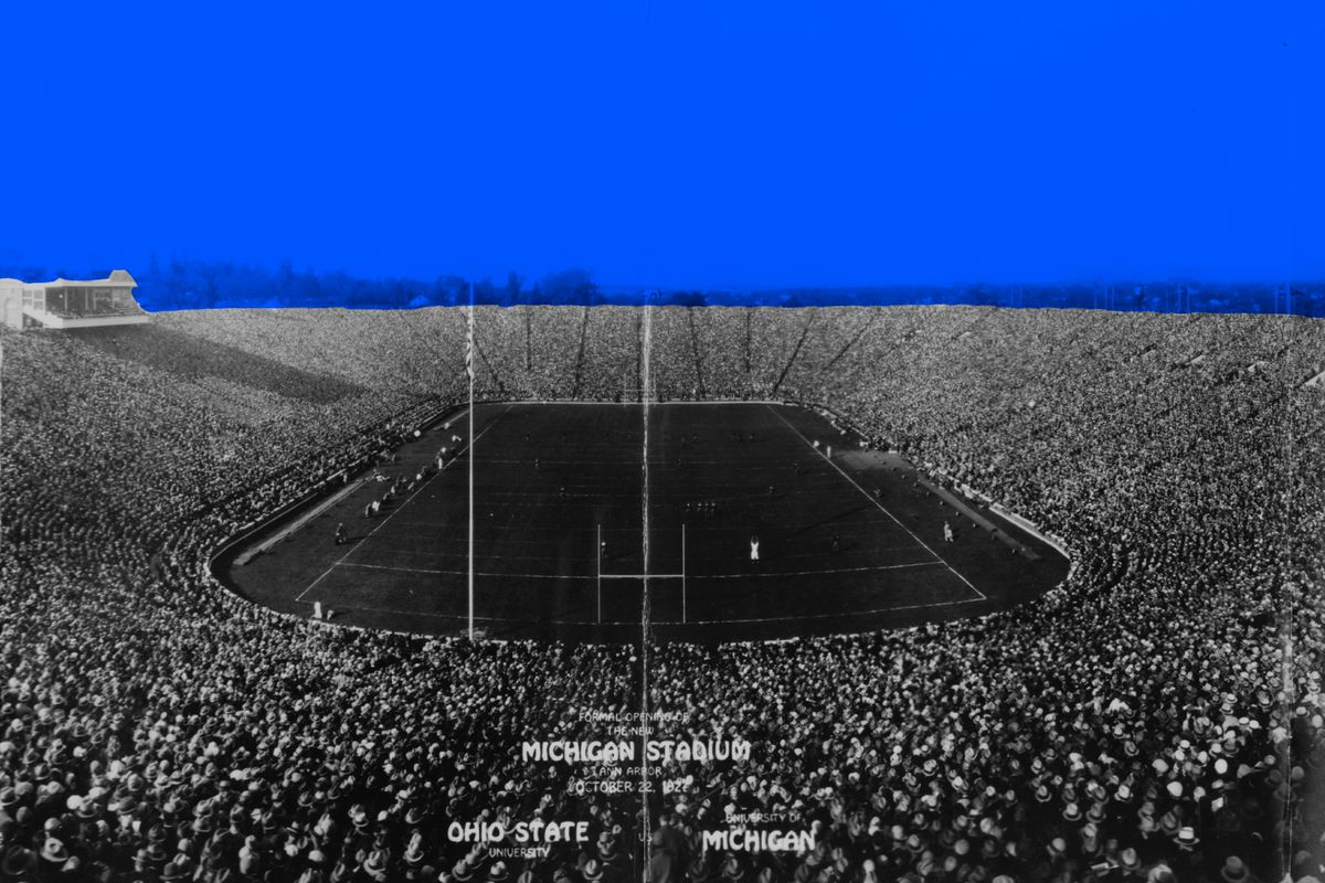 Michigan Stadium in 1927