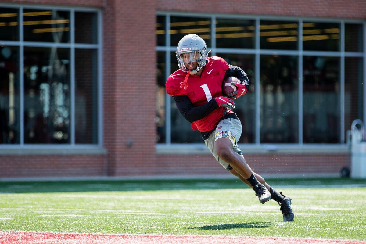 Washington State University Football Fall Practice 3 - Travell Harris (1)