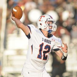 Timpview's Jake Lloyd had 296 yards passing in the first half. Timpview reigned supreme over Lone Peak 36-33.