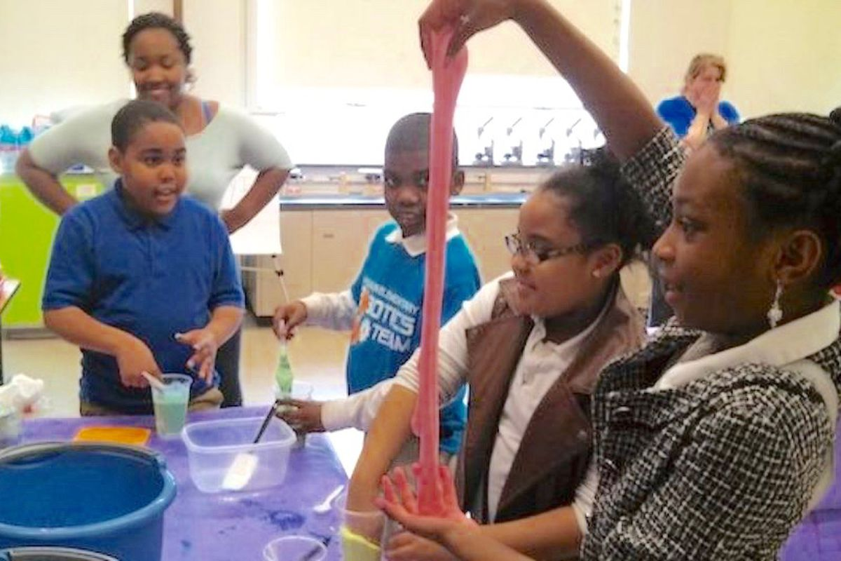 Students at Whitehaven Elementary School in Memphis participate in a 2014 STEM expo to develop skills in science, engineer, technology, and math.