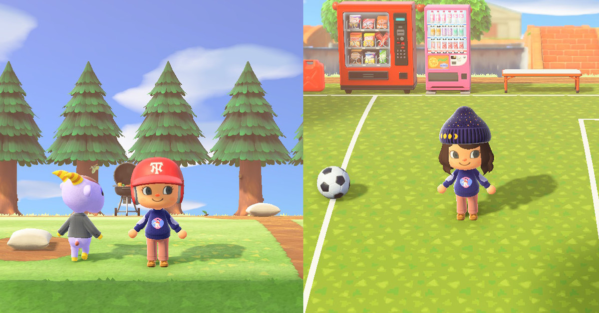 Animal Crossing New Horizons Sports//gym Items Set