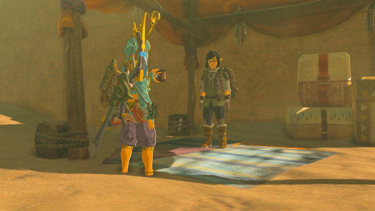 Zelda Breath Of The Wild Guide The Eighth Heroine Location And How To Get Sand Boots Polygon You pick it up in gerudo town by talking to one of the npcs there. zelda breath of the wild guide the