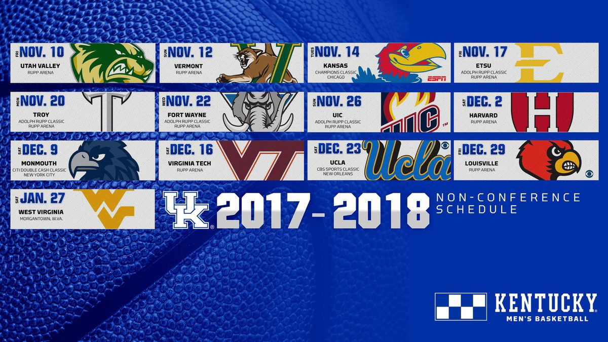 2017 18 Uk Basketball Schedule Now Complete: Kentucky Wildcats Basketball 2017-18 Non-Conference