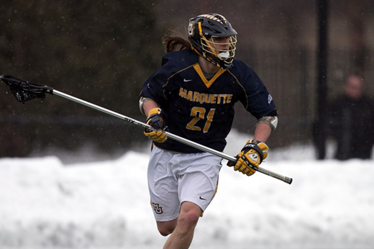 Long stick midfielder Liam Byrnes is one of three Golden Eagles on the Big East's preseason all-conference team.
