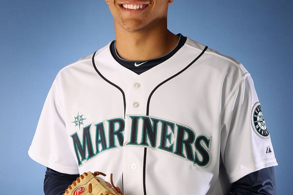 PEORIA, AZ - FEBRUARY 21:  Pitcher Taijuan Walker #68 of the Seattle Mariners poses for a portrait during spring training photo day at Peoria Stadium on February 21, 2012 in Peoria, Arizona.  (Photo by Christian Petersen/Getty Images)