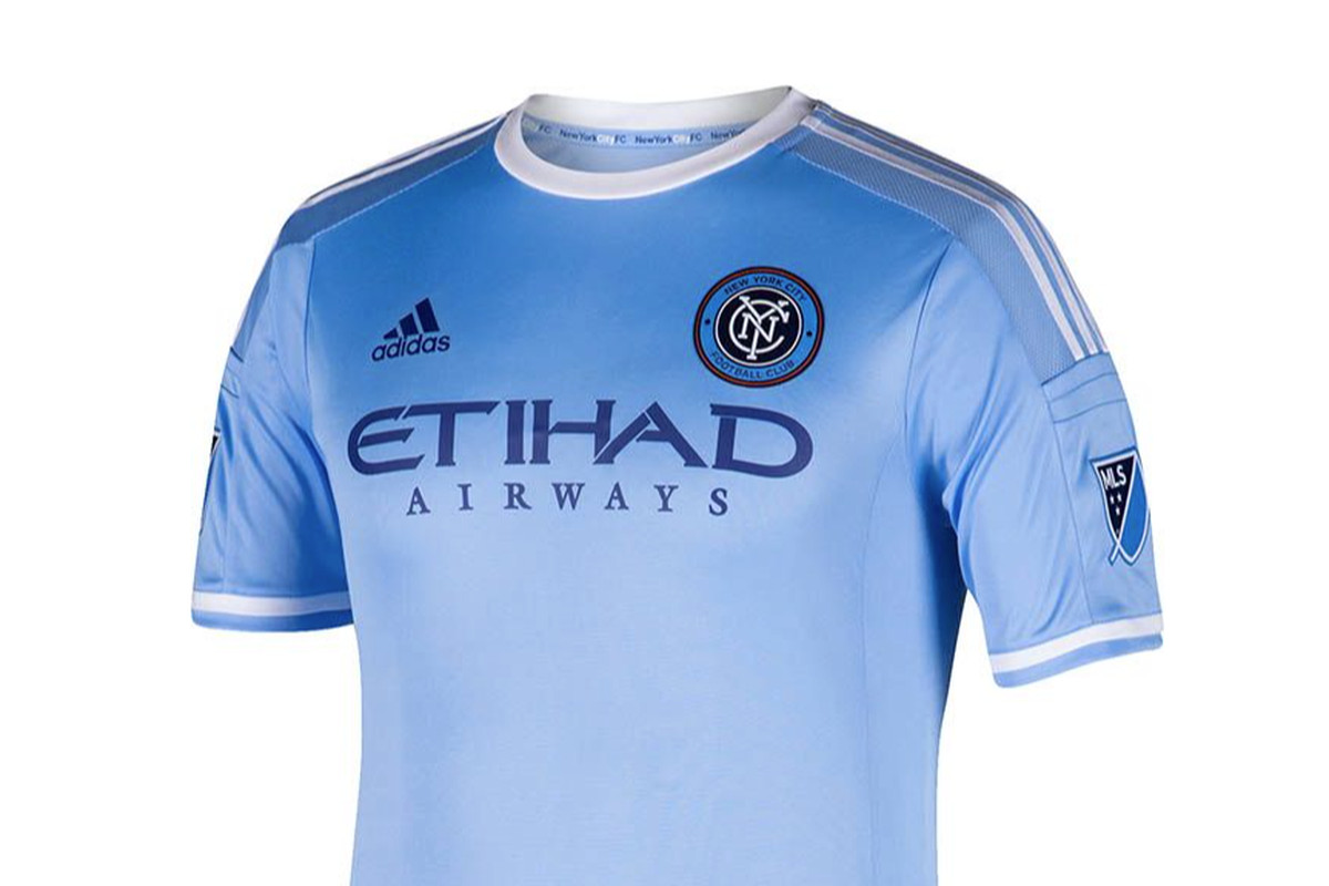super popular 2f5f2 bc8c6 OFFICIAL: The New York City FC home jersey - Hudson River Blue