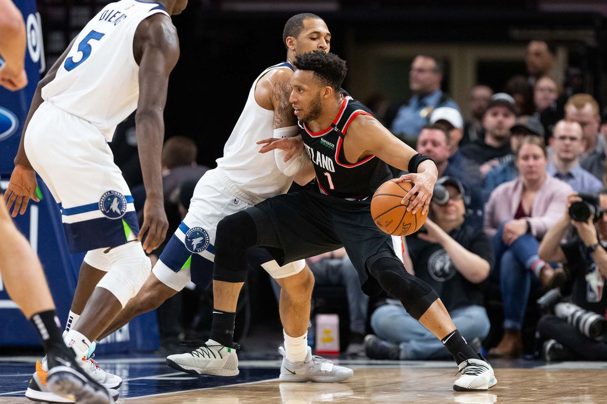 NBA: Portland Trail Blazers at Minnesota Timberwolves