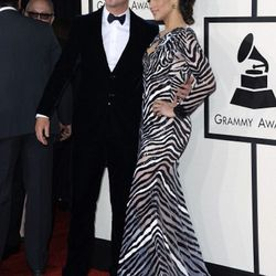 """""""Paula Patton. Now, a lot of people didn't get this dress but I totally did. Nicholas Jebran is this amazing emerging couture designer and it was a race this season for stylists to get his pieces. Each of his pieces have a great attention to detail and un"""