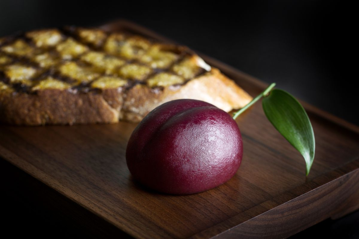 Dinner by Heston Blumenthal's signature meat fruit; the London restaurant reopens today at The Mandarin Oriental in Knightsbridge