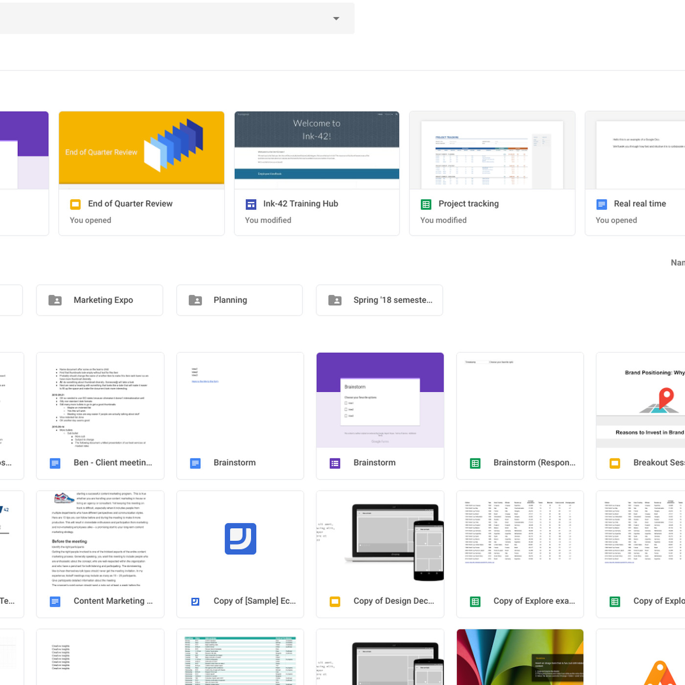 Google Drive S Redesign Matches The New Gmail The Verge