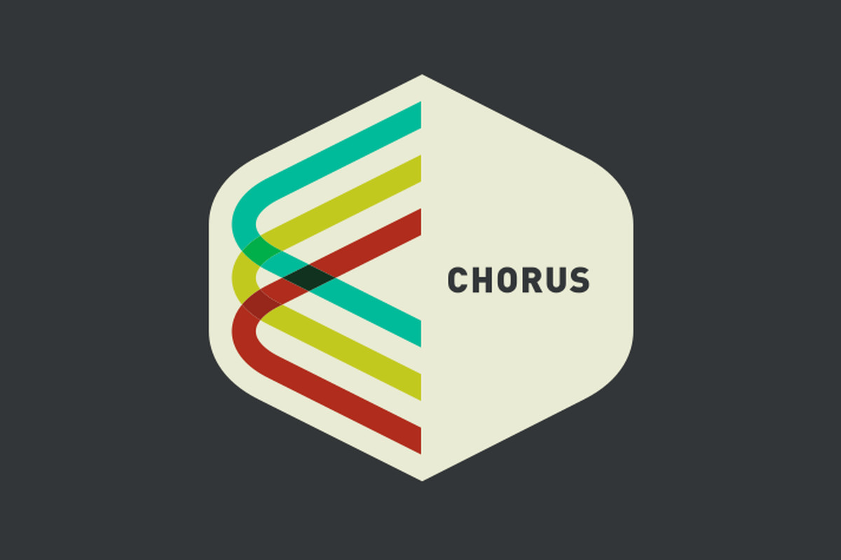 The Chorus logo, with multiple threads overlapping and intersecting.