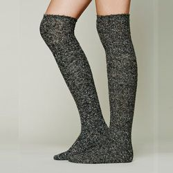 """Give the gift of wearing shorts year-round with these <strong>Free People</strong> Cozy Sweater Tall Socks, <a href=""""http://www.freepeople.com/cozy-sweater-tall-sock-29137155/_/searchString/sweater%20sock/QUERYID/52b347858570a37438000856/CMCATEGORYID/683d"""