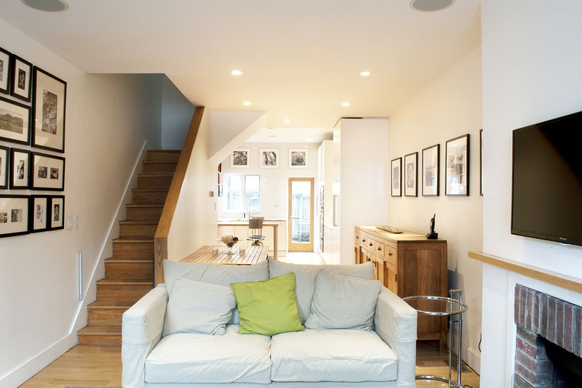 With two kids in tow couple keeps fitler square home for Clean interior design