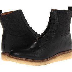 "Ben Sherman Men's Scott: originally $255, now $165.75. ""Edgy, urban gum sole boot for men with flannel detail."""
