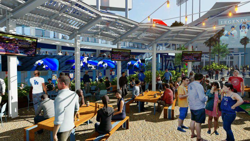 los angeles dodgers stadium outdoor seating bar renderings