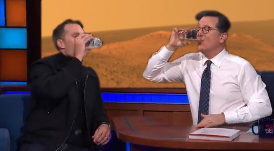 Tom Brady chugged a beer with Stephen Colbert, and there's ...