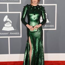 Now THIS is Grammys fashion. Witness Florence Welch in bonkers, custom head-to-toe Givenchy.