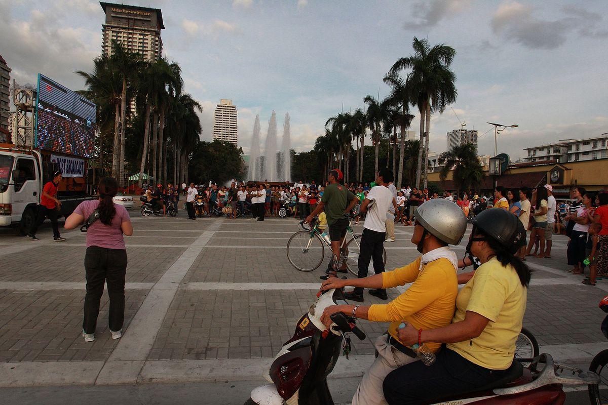 Fountains in Manila