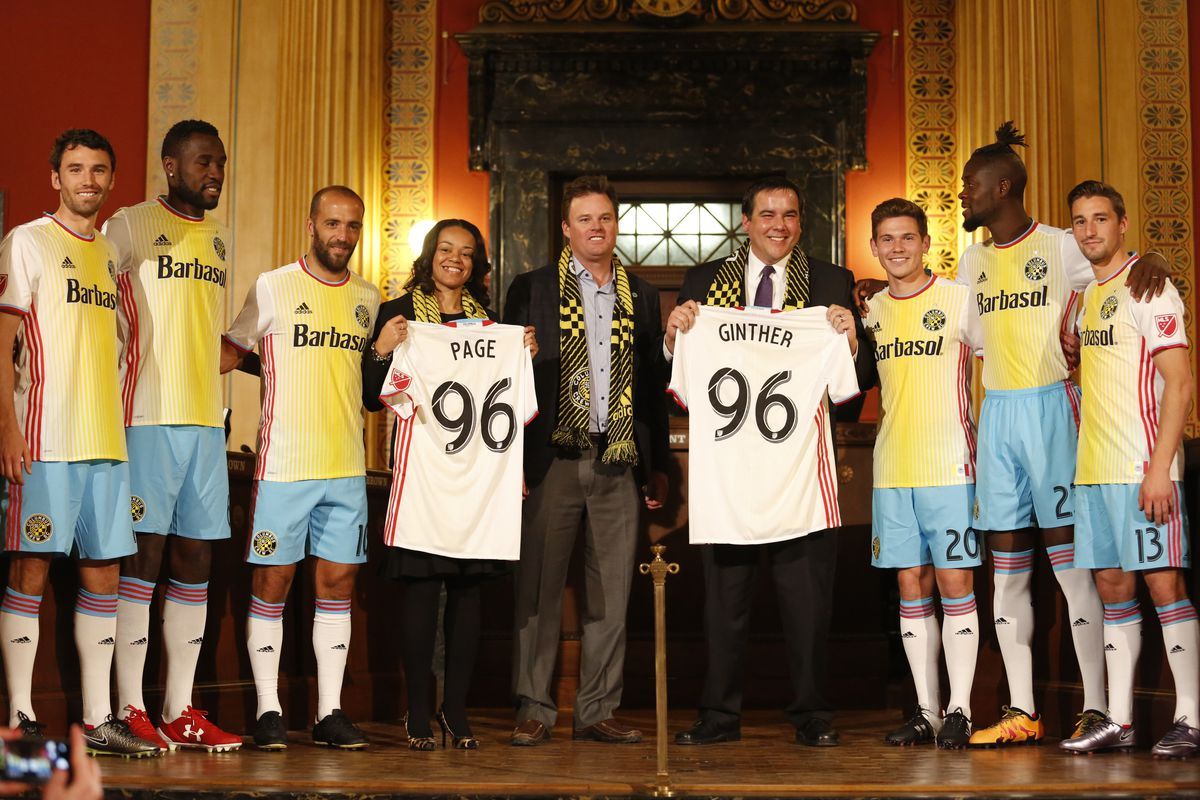 3b4dce95a50 Columbus Crew SC Unveil  For Columbus  Kits at City Hall - Massive ...
