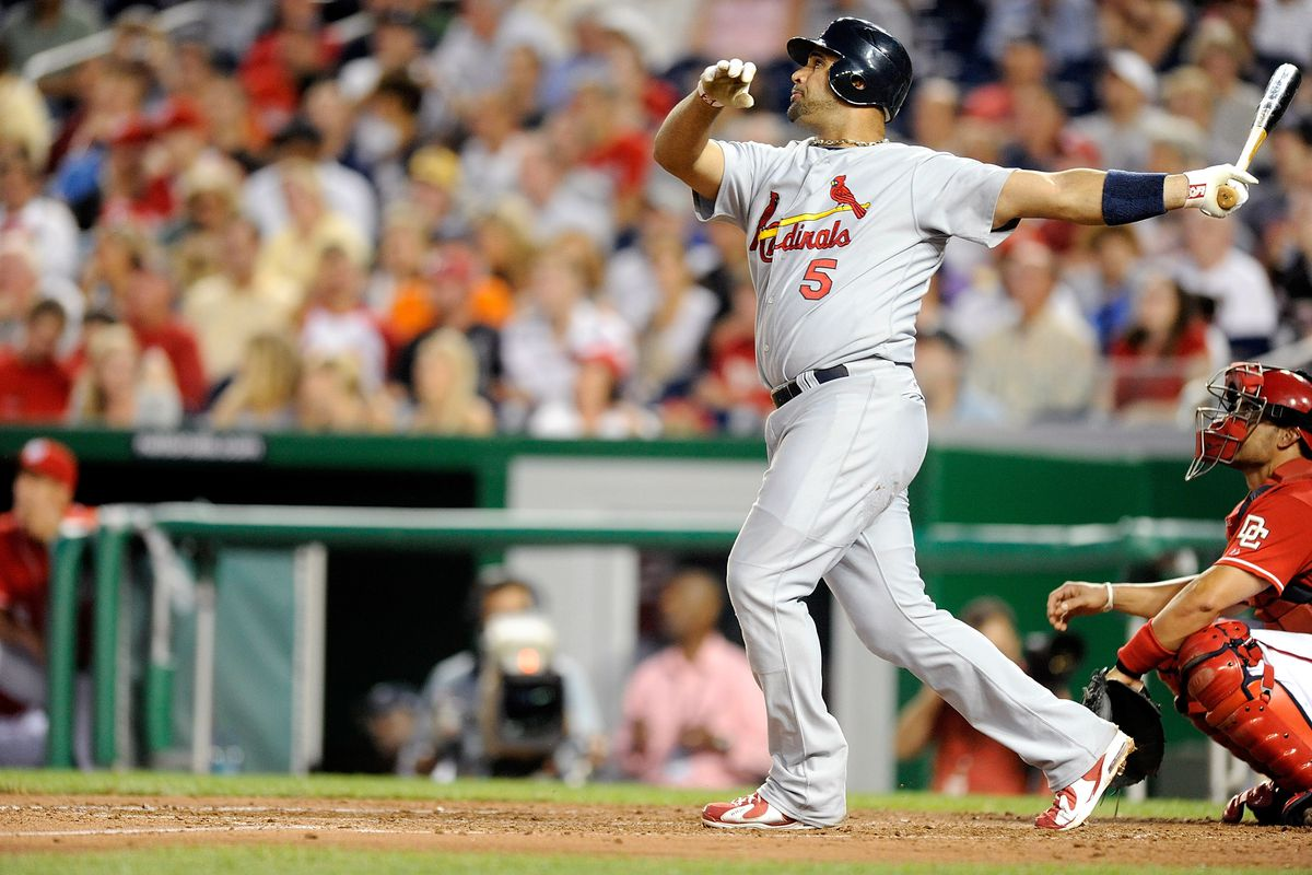 A look back at Albert Pujols' first and last home runs at Busch ...