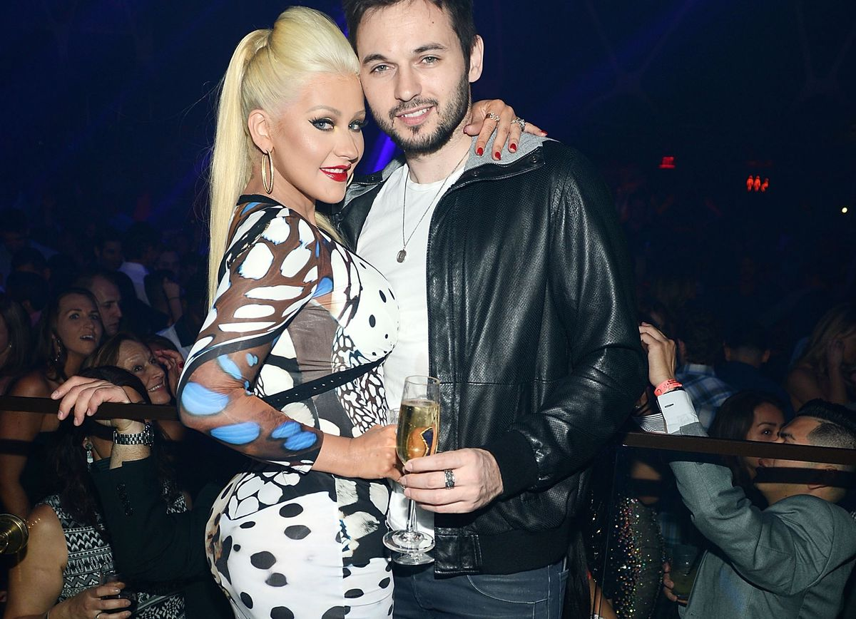 Christina Aguilera, her fiancé Matthew Rutler