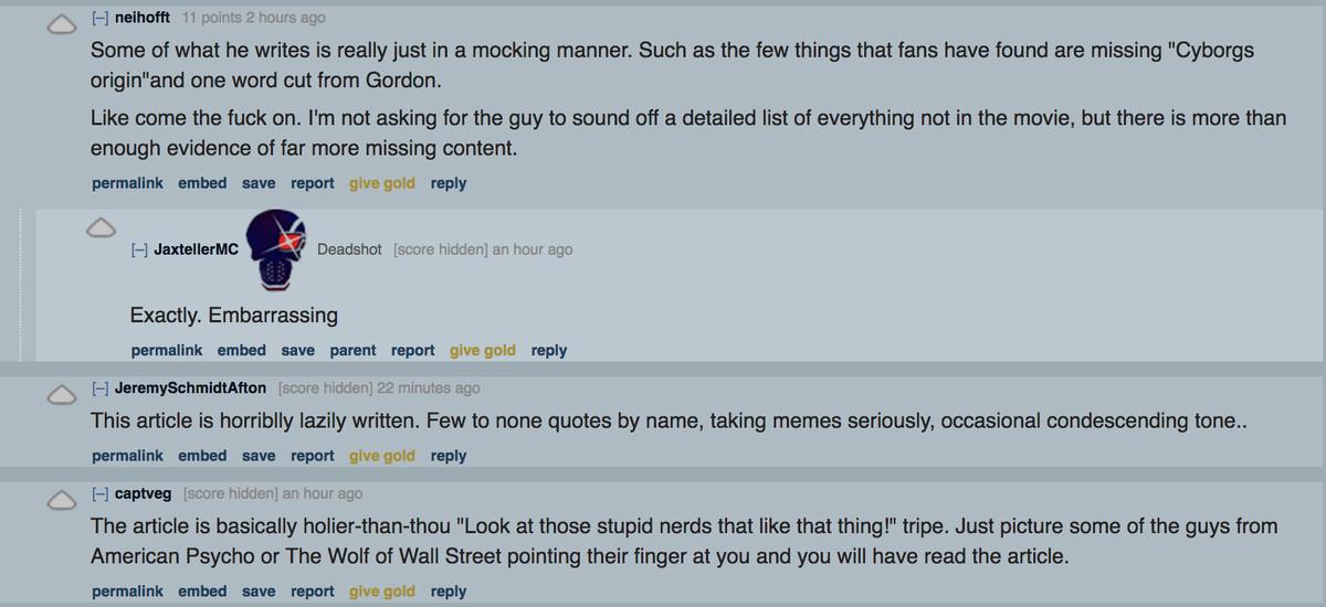 Reddit Snyder Cut