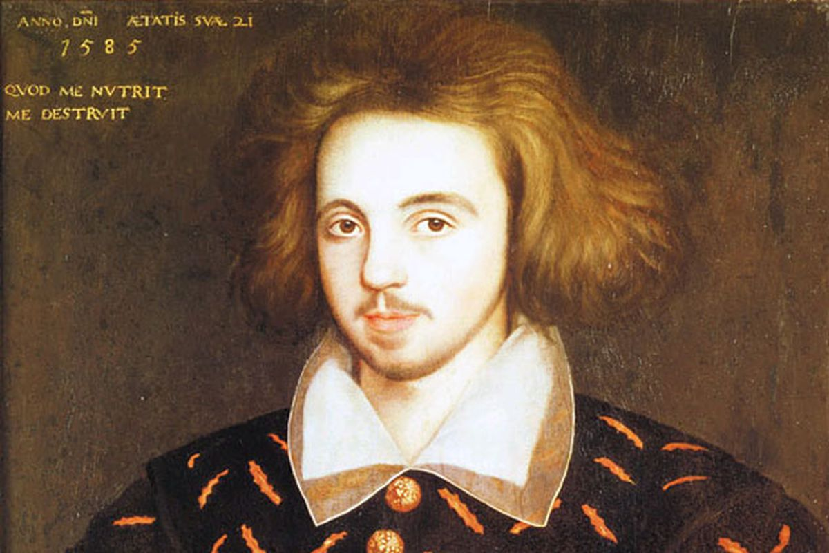 Unknown 21-year old man, supposed to be Christopher Marlowe