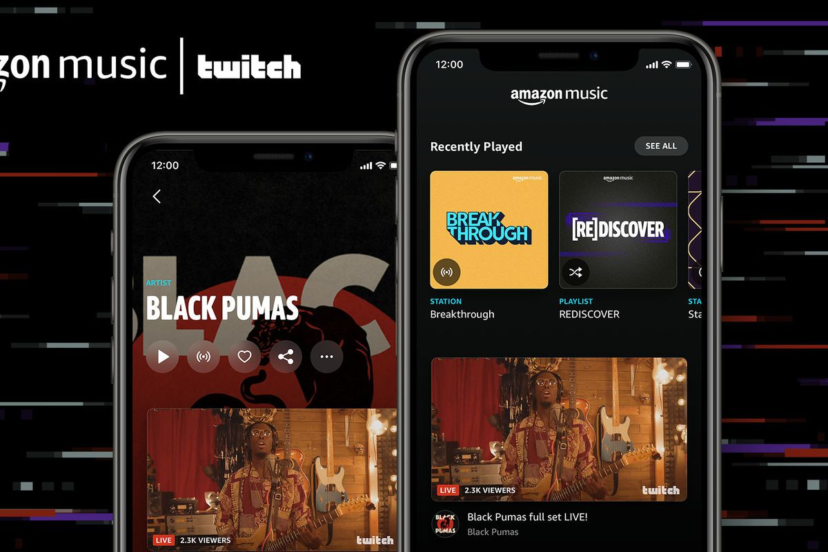 Amazon Music se une a Twitch para transmissões ao vivo