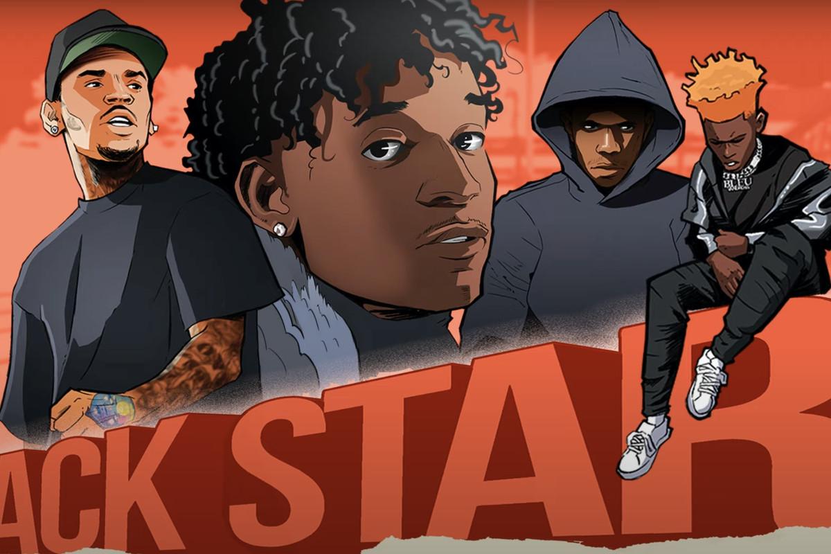 "Mooski's ""Track Star (Remix)"" artwork"