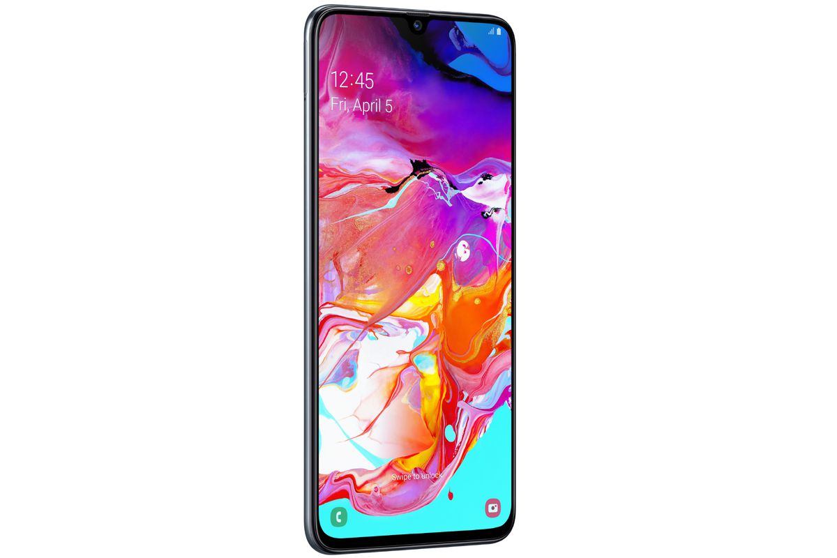 Samsung's Galaxy A70 has a tall screen and in-display