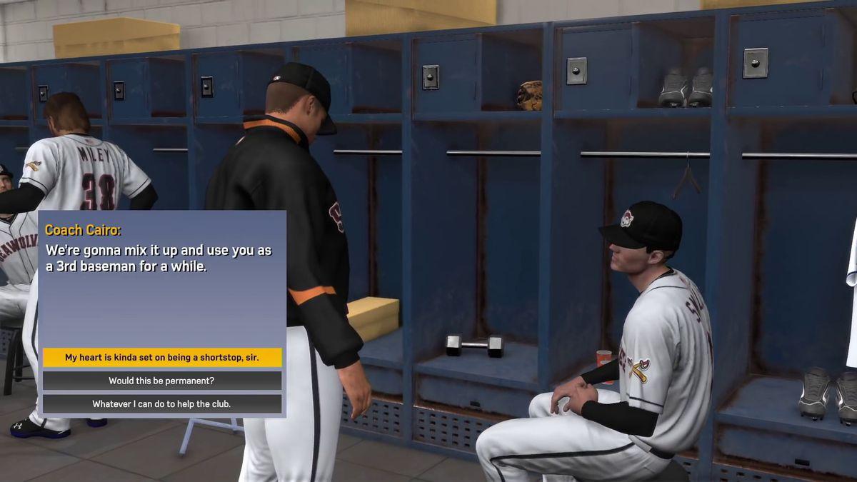 MLB The Show 17 - locker room decision