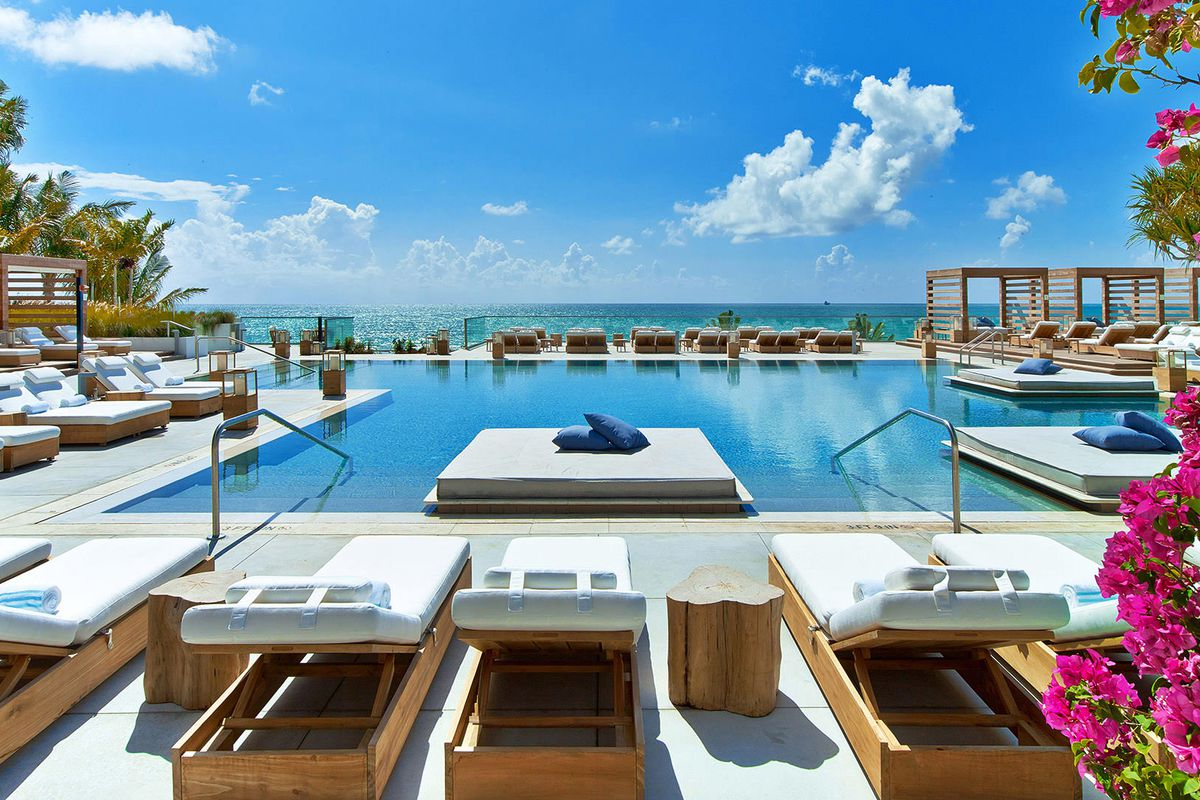 A Pool At 1 Hotel South Beach Courtesy Of Hotels