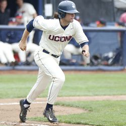 The Houston Cougars take on the UConn Huskies baseball team at J.O. Christian Field in Storrs, CT on May 13, 2018.