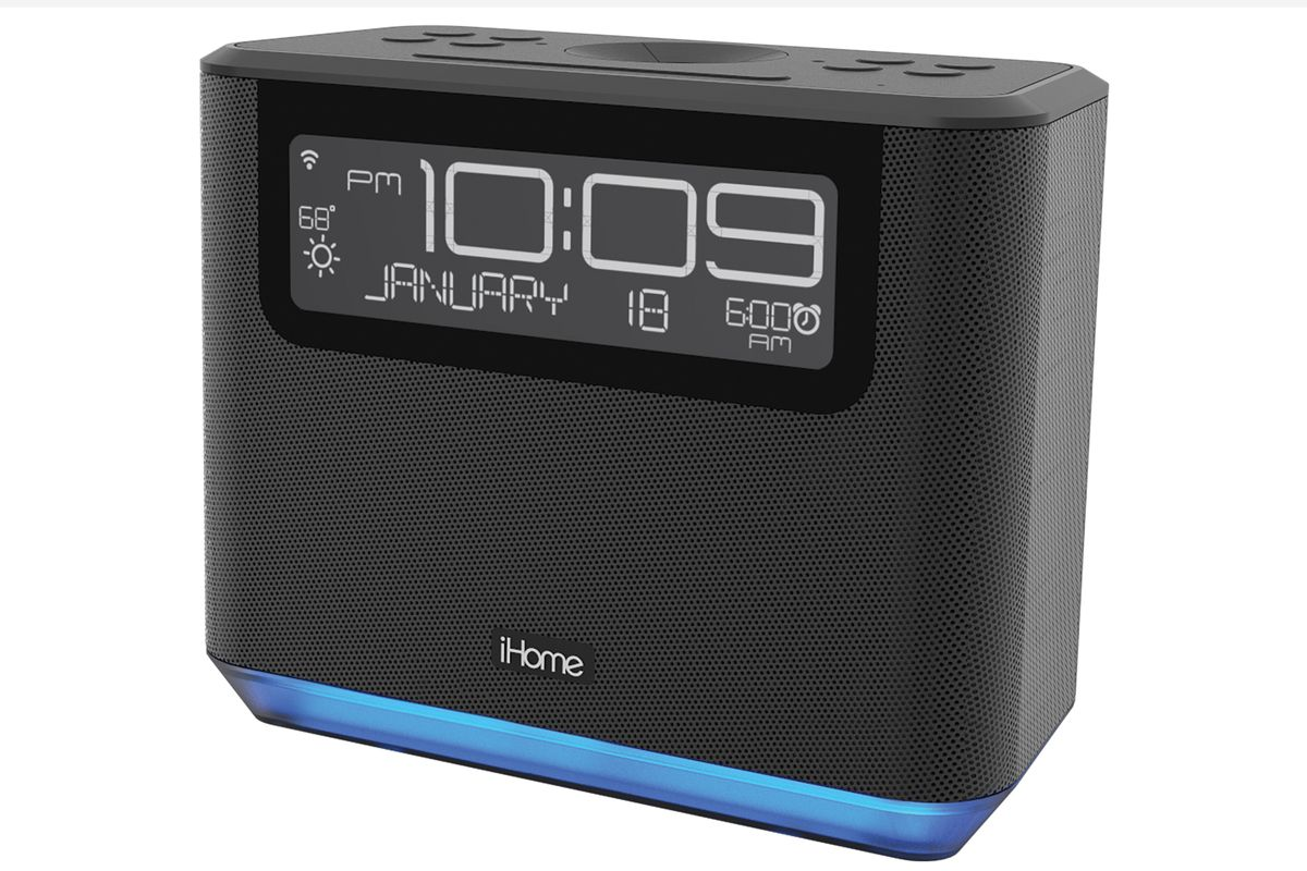 ihome built alexa into its latest alarm clock the verge. Black Bedroom Furniture Sets. Home Design Ideas