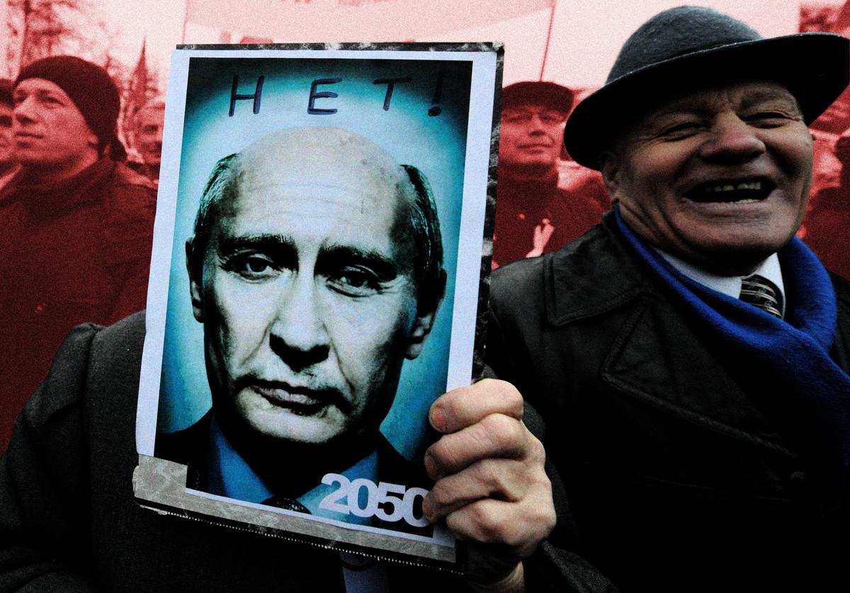 Putin protest stylized 2