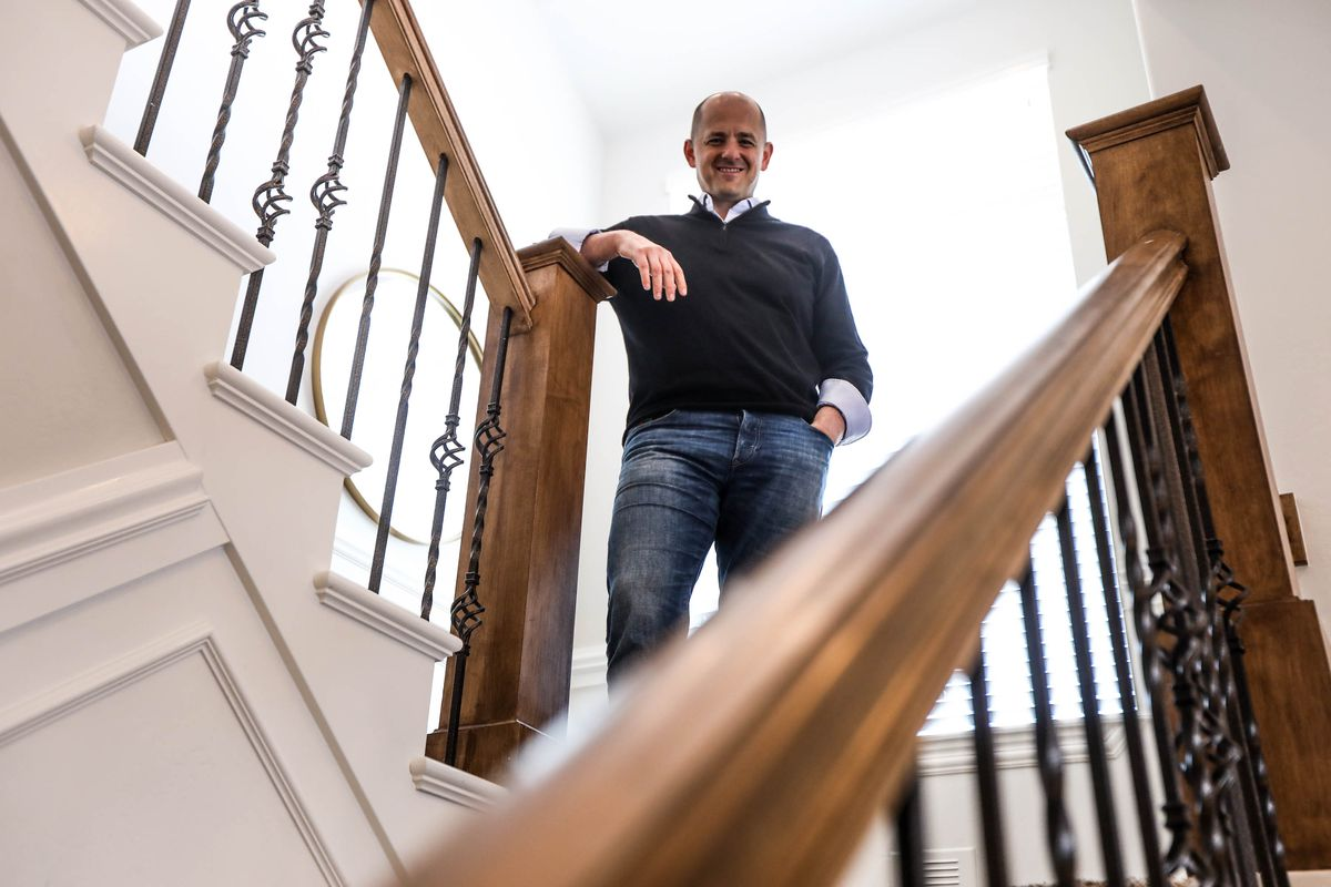 Evan McMullin,, a former CIA operations officer and 2016 presidential candidate, poses for a photo in Highland on Friday, March 26, 2021.