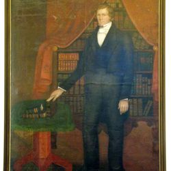 """Brigham Young's impact is visible throughout Pioneer Memorial Museum. This portrait of the LDS leader, by Selah Van Sickle and titled """"Delivering the Law of the Lord,"""" was painted in Nauvoo, Ill., before the pioneer trek to Utah."""
