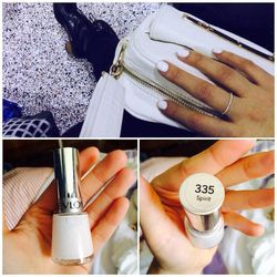 My best friend thinks white nails are trashy (she is not shy when it comes to sharing opinions), but I'm all about them at the moment—this is 'Spirit' by <b>Revlon</b>. I don't know what kind of sorcery is involved in Revlon Top Speed nail polish but it d