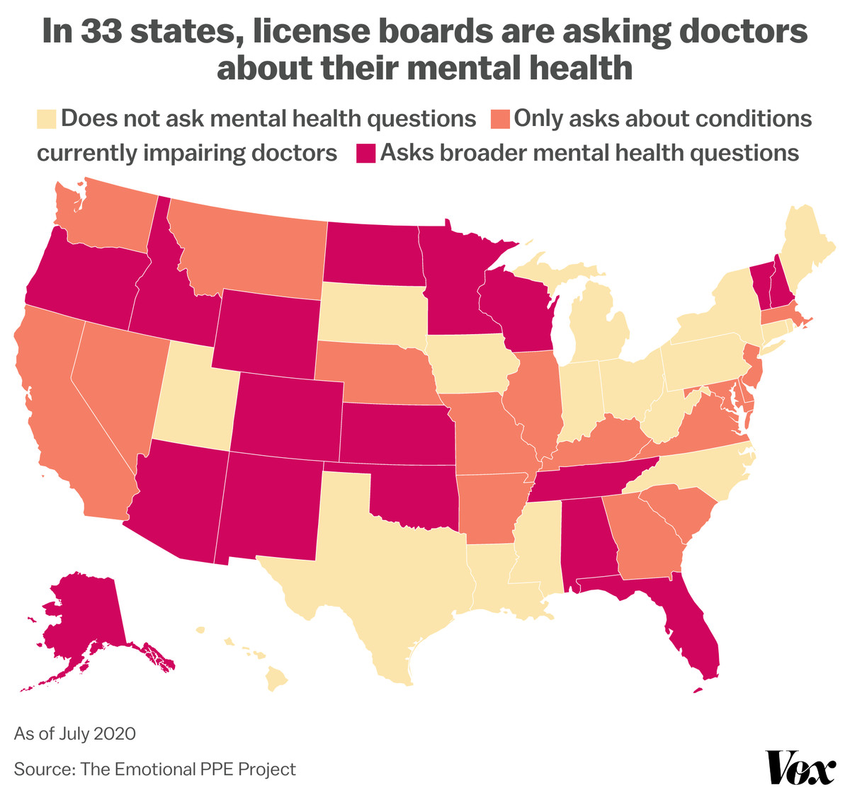 In 33 states, license boards are asking doctors about their mental health