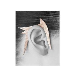 "Spicules Earhook, $135 at <a href=""http://www.kimberlyovitz.com/shapeways/spicules-hook-steel"">Kimberly Ovitz</a>"